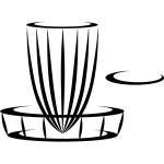 Vinyl Logo (6in Vinyl, DGA Basket and DiscGolf.com Logo)