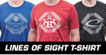 Performance Blend T-Shirt (Short Sleeve) (Performance Blend T-Shirt (Short Sleeve), Lines of Sight DD Crown Logo)