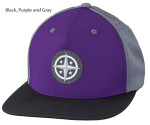 Innova 3D Rubber Star Patch Cap (Performance Flatbill Snapback Cap, 3D Rubber Star Patch)