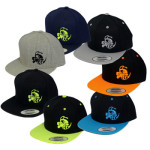 Snapback Adjustable Baseball Cap (Flatbill Snapback Adjustable Baseball Cap, Buzzz Logo (Front left) and Discraft (Back))