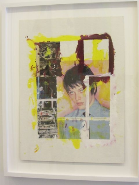 Milla, 2002–2012, 25 x 19 ½  inches Collaged Painting w/China Marker on paper