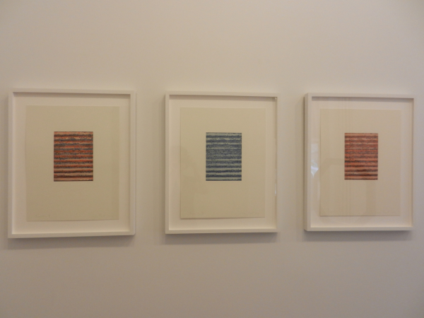"Jane Kent ""Practice #1, #2, and #3"" 2012 Digital engraving on four copper plates 20 x 16 inches"